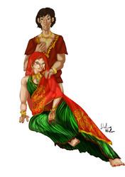 Tenko with a Sari