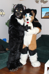 Xander With His Puppy Friend 2