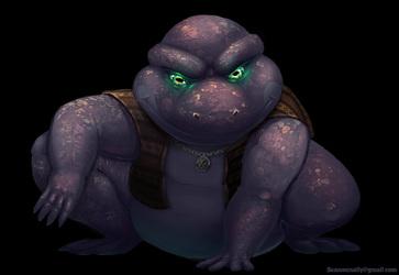 Smirking toad