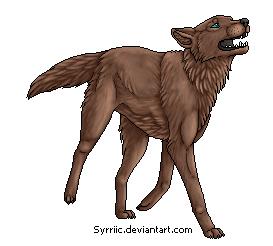 Free Pixel Wolf Lineart