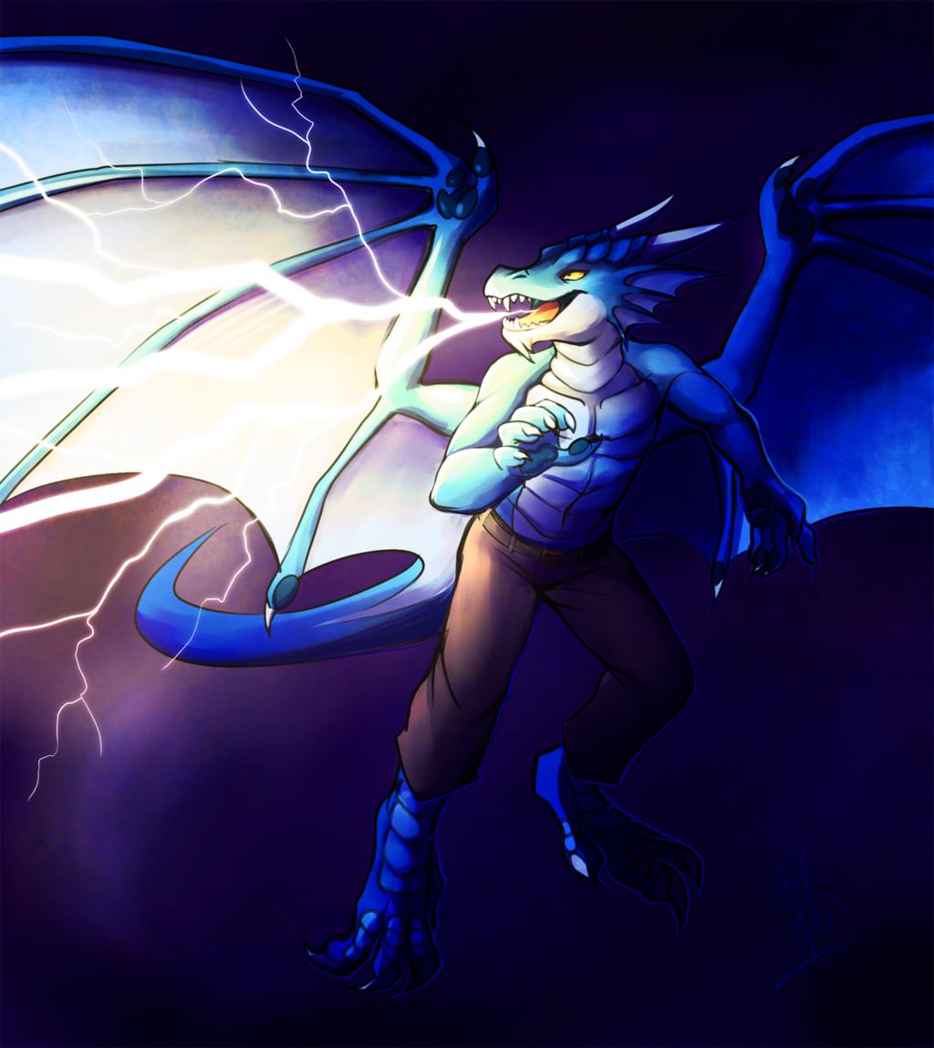 Striking from the skies - Commission by Neko-Maya/Neotheta