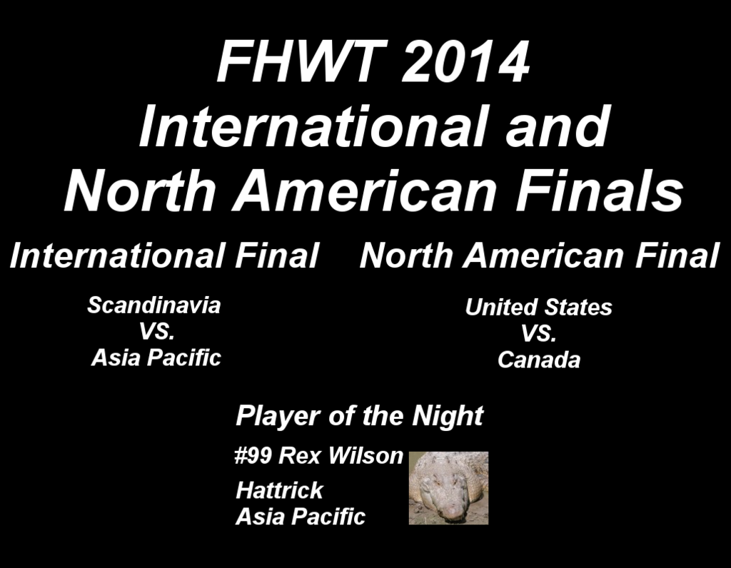 FHWT 2014 International and North American Finals