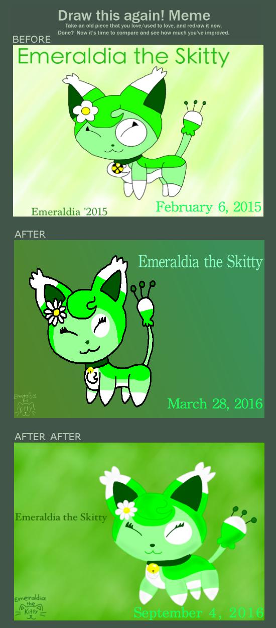 Draw This Again Meme: Emeraldia the Skitty