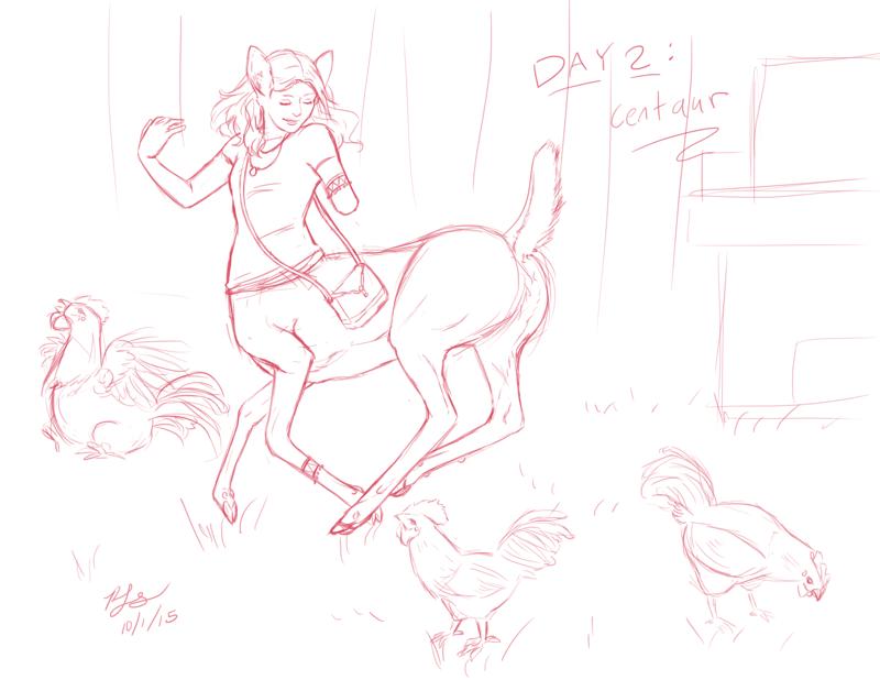 Real Day 2: deer centaur