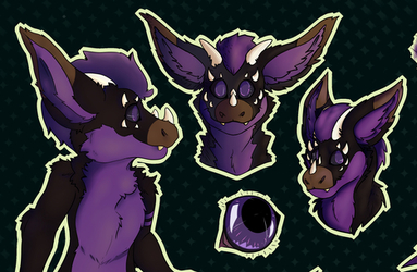Baxter, reference sheet (commission)