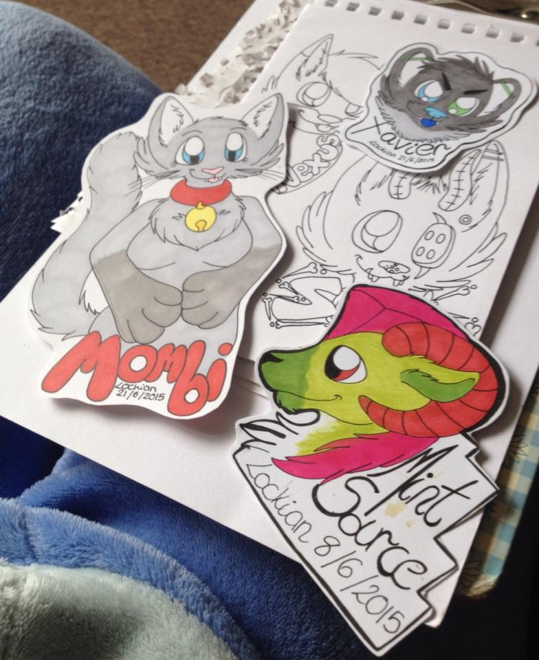 Assorted badges and WIP's