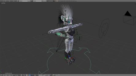 Customizable anthropomorphic character for Blender 3D 2