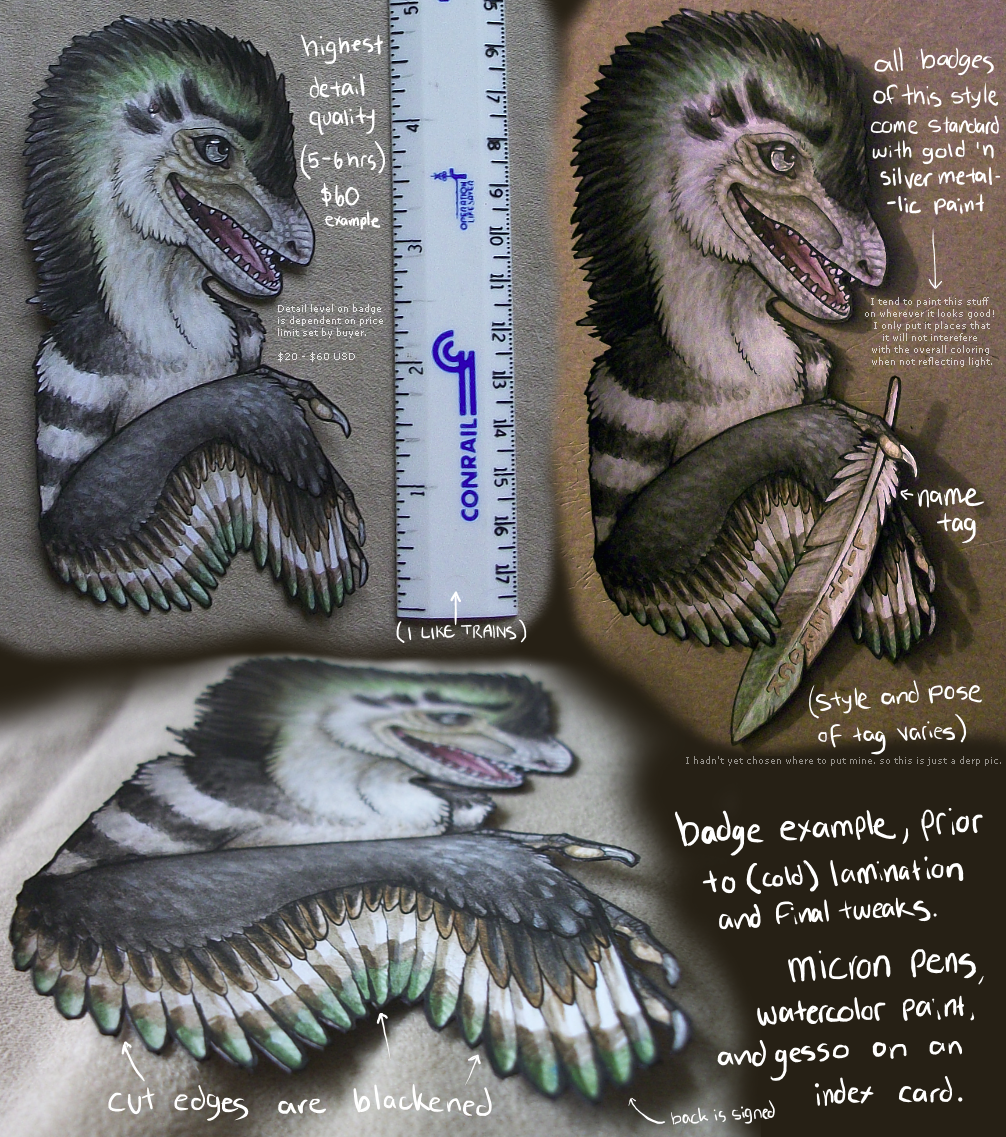 Featured image: Littlerock's watercolor conbadge