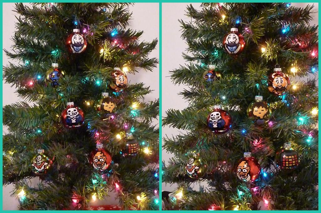 Undertale Christmas Bulbs