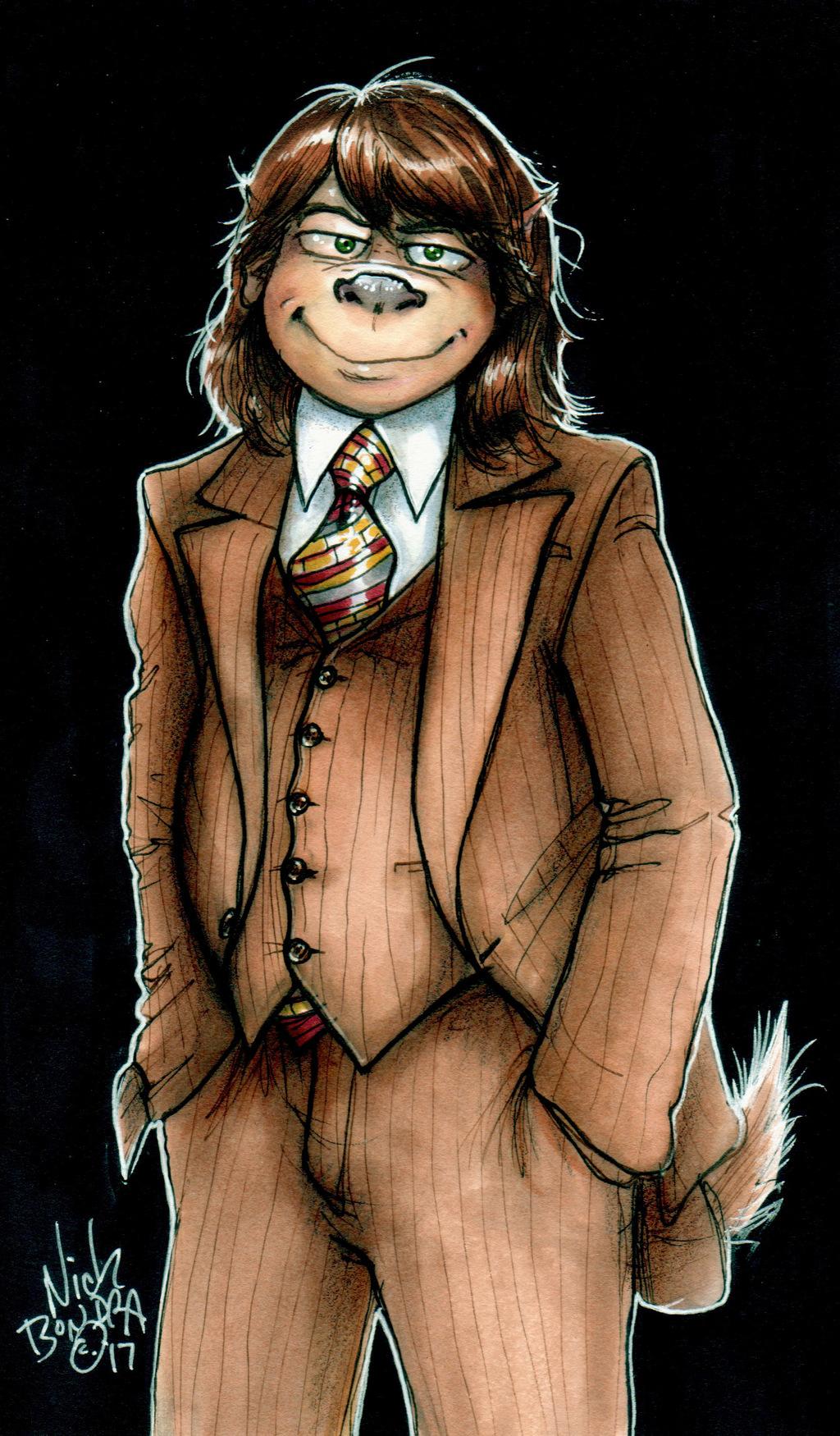 Brown Suits Him