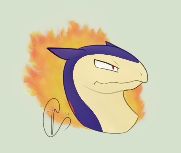 Most recent image: [Commission] Typhlosion Icon