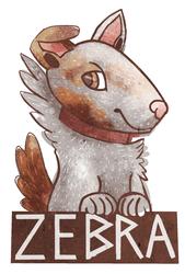 [Commission] Zebra Badge
