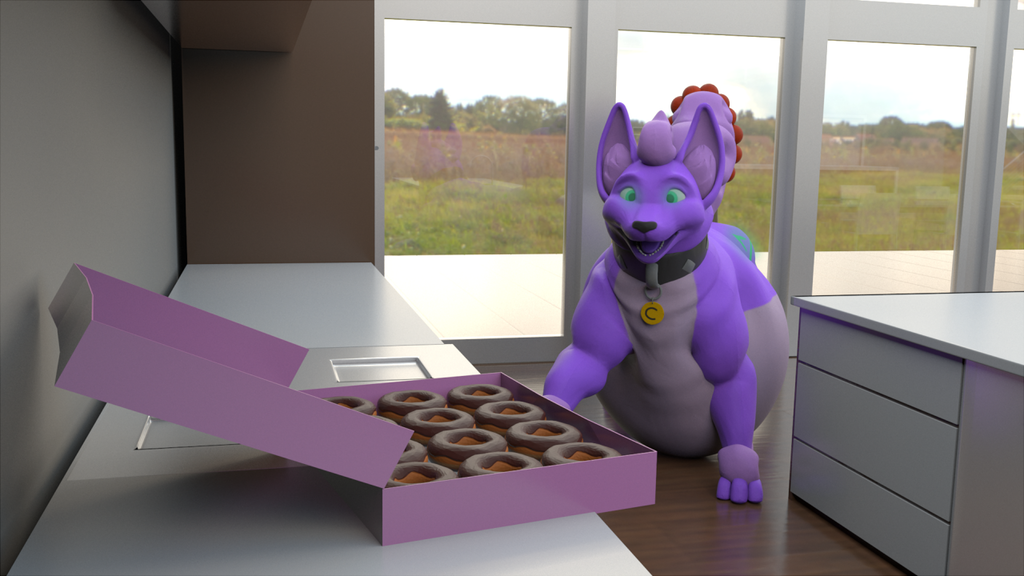 Donut Discovery Does Delight Doggy! - by CudaCore