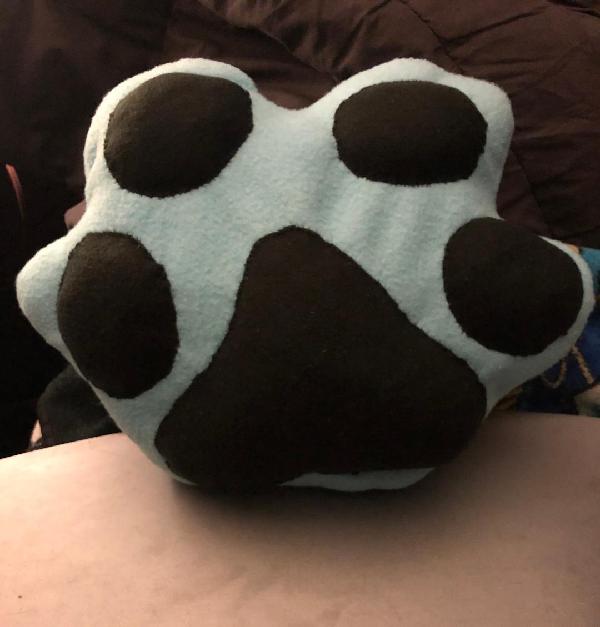 Blue Paw Pillow Plush For Sale