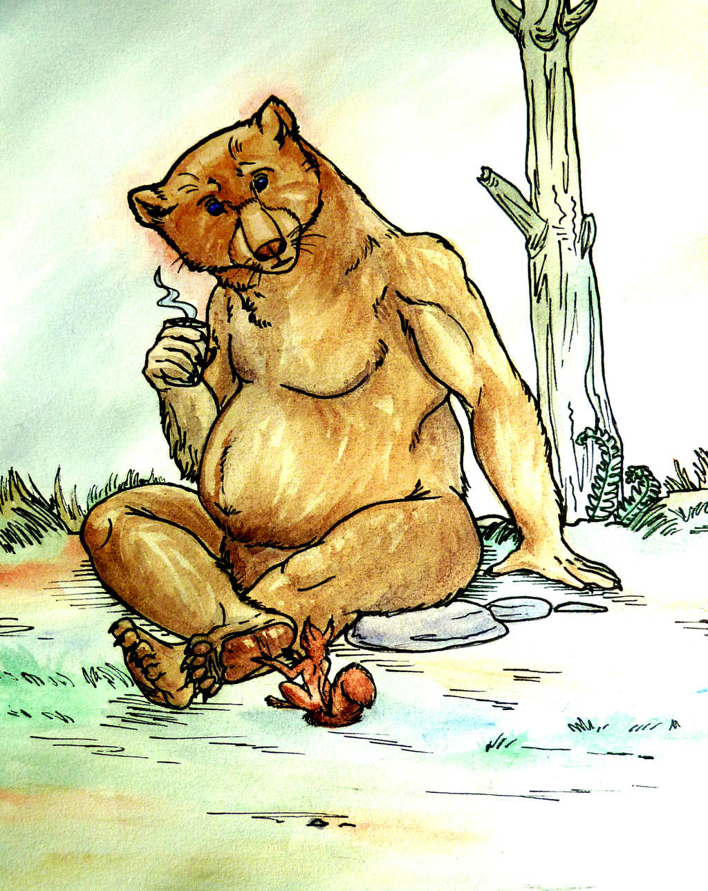 Great Bear and Red Squirrel