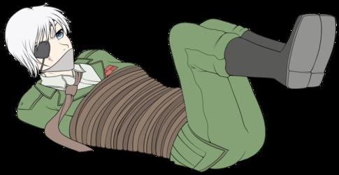Alex Bound (laying & feet up)