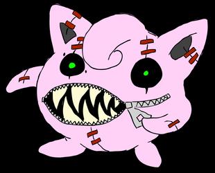 evil jigglypuff plush