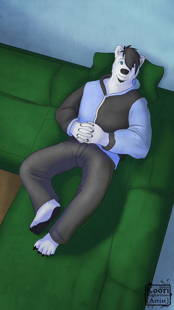 Most recent image: Relaxing in the couch