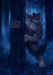 Beware of the Werewolf! by RacoonWolf