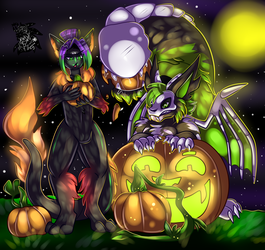 Pumpkin Patch Shenanigans +Full Shaded Commission+
