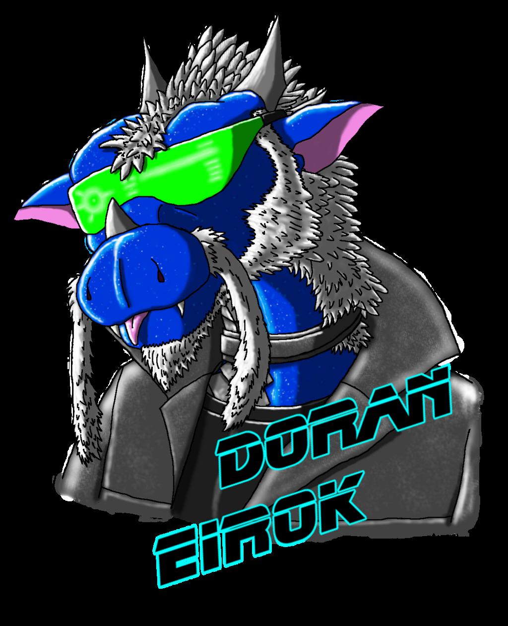 Cyberpunk Dorey Headshot