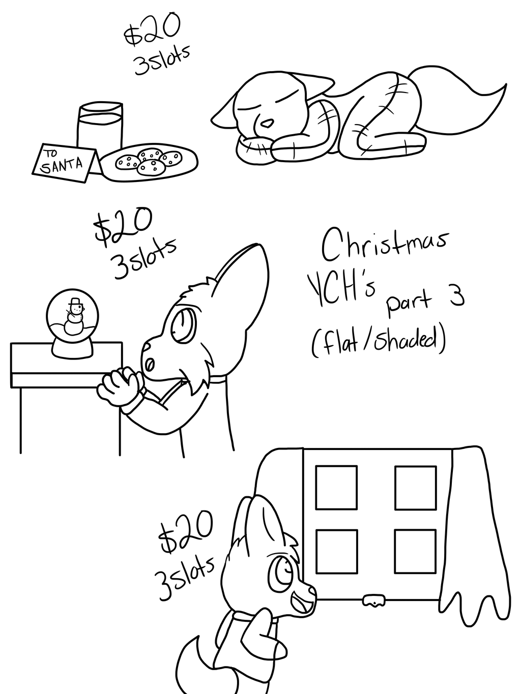 Most recent image: X-Mas YCH's OPEN [Part 3]