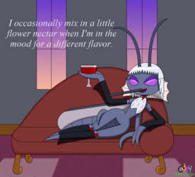 Countess Zale Lounging At Home