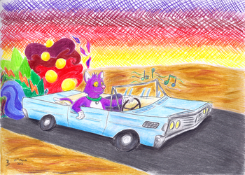 Mercury Blues, or Through a Psychedelic Desert