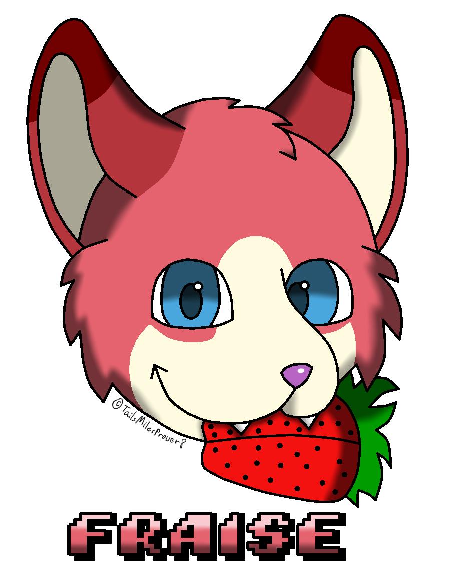Fraise's Strawberry Badge
