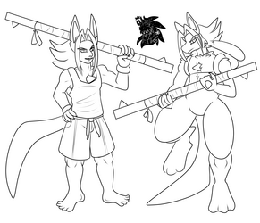 Male Lucario +Commission WIP+