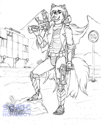 Borderlands Soldier - Raul Xi (sketch)