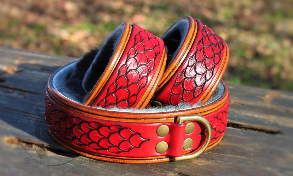 Zephra's Red Dragonscale Collar & Cuff Set