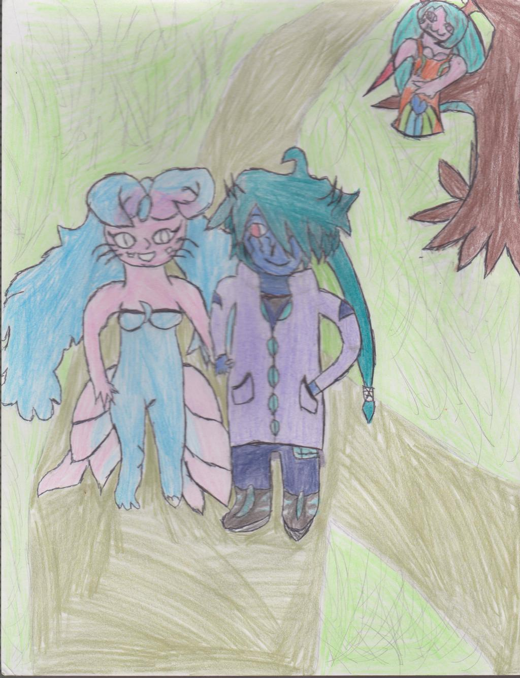 RP Scene Rawrgna and Mew hold hands