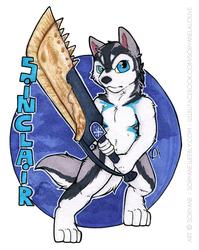 Sinclair - Monster Hunter Chibi Badge
