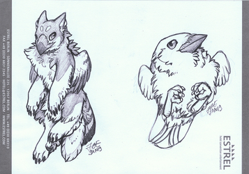 Estrel Sketch - Chibis