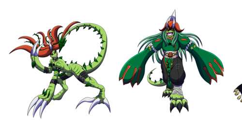 Comm/Digimon: Strikemon digimon line