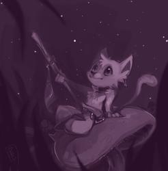 a tiny meow