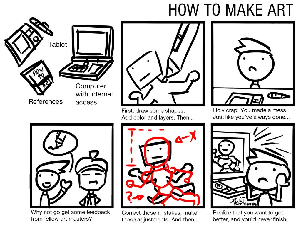 How To Make Art - COMIC MEME