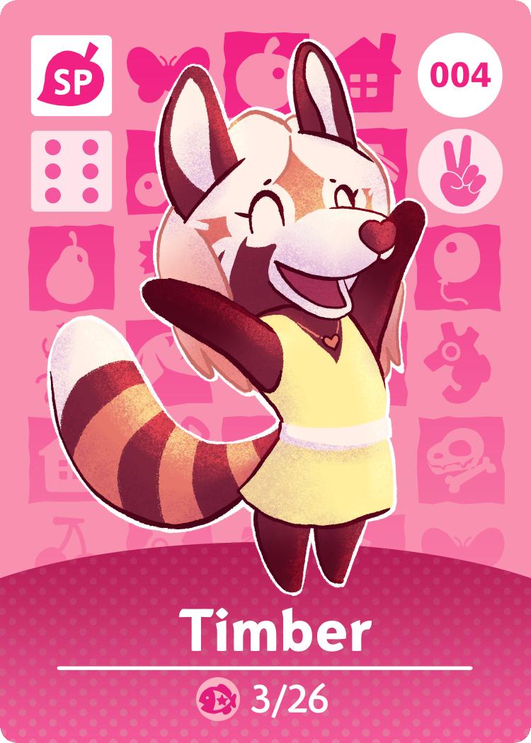 Animal Crossing Amiibo Card: Timber