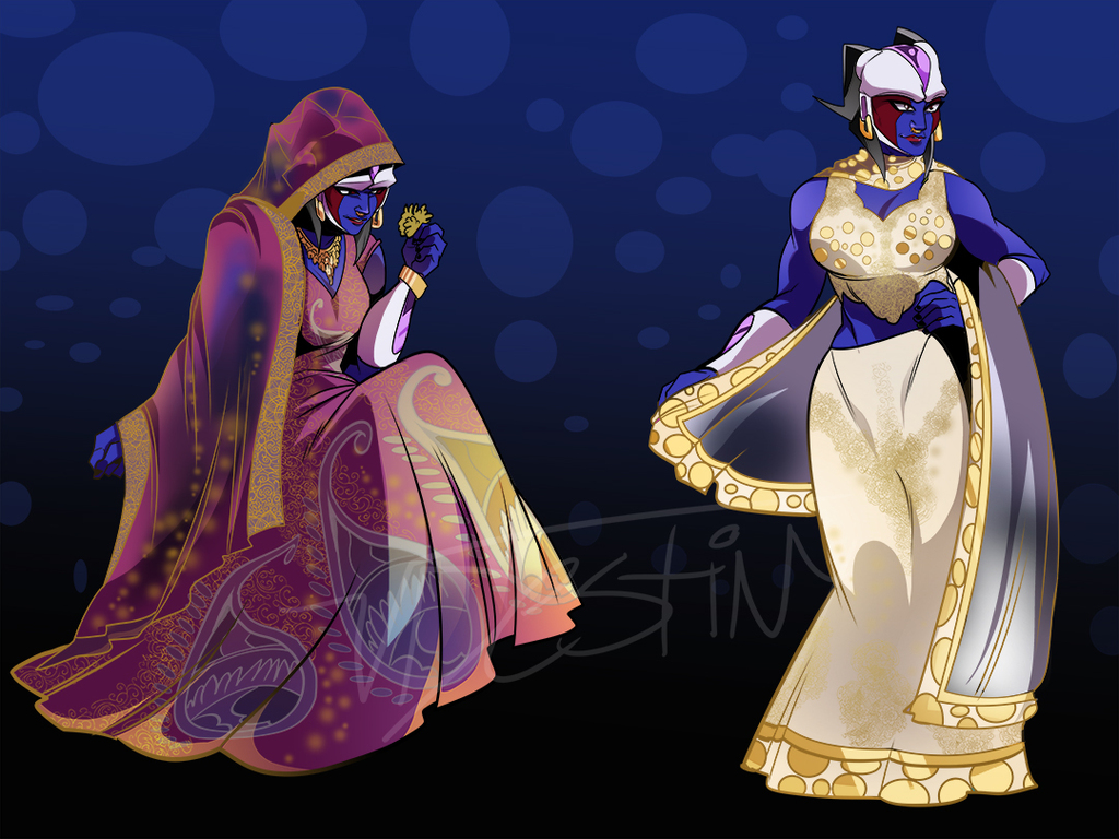 Icejin Gowns (COMMISSION)