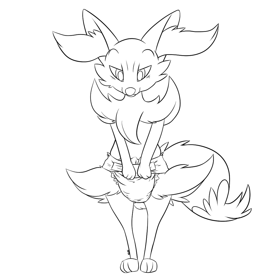Most recent image: Braixen Diapered FREE LINEART