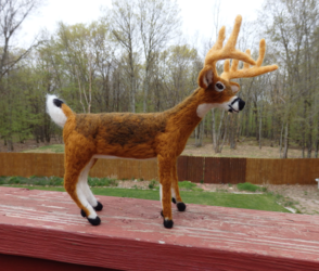 Needle Felted White-Tailed Deer Buck