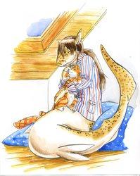 Predator snuggles