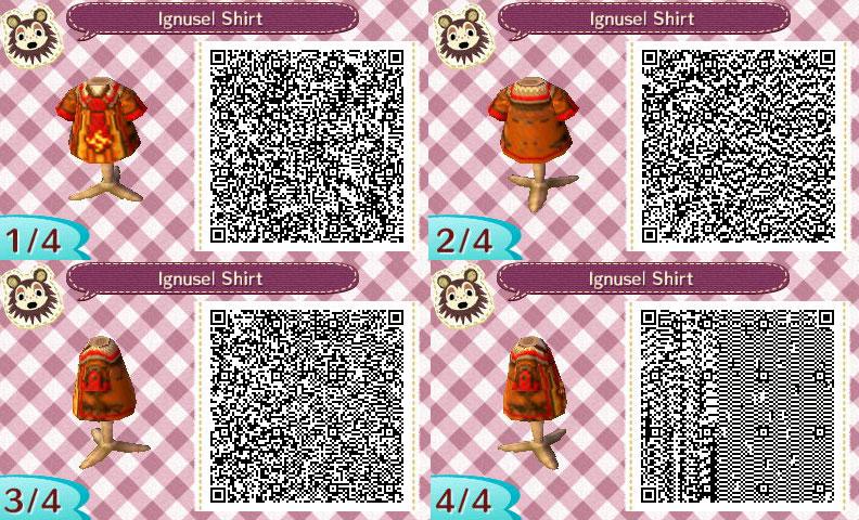 Animal Crossing New Leaf Ignusel Shirt QR Code
