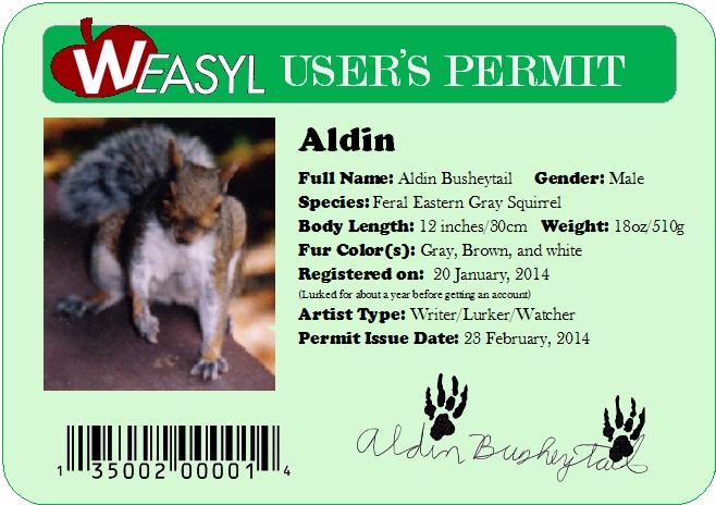 "My ""Weasyl Permit"""