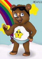 Coolio Bear (Digitz as a Care Bear.)