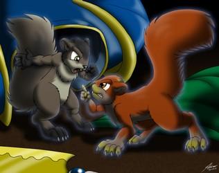 Squabbling Squirrels (no text)