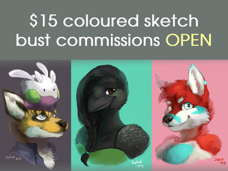 Open for bust sketch commissions!