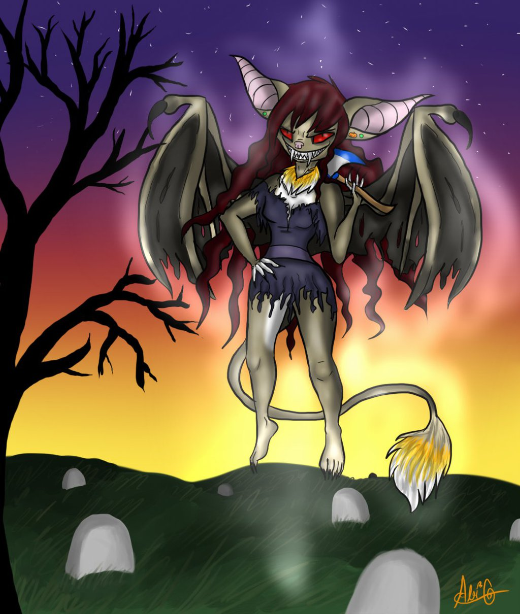 Heeeere's Opal! -Halloween Piece-