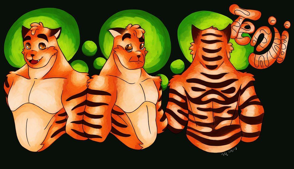 Most recent image: Tenji Tigre ref sheet